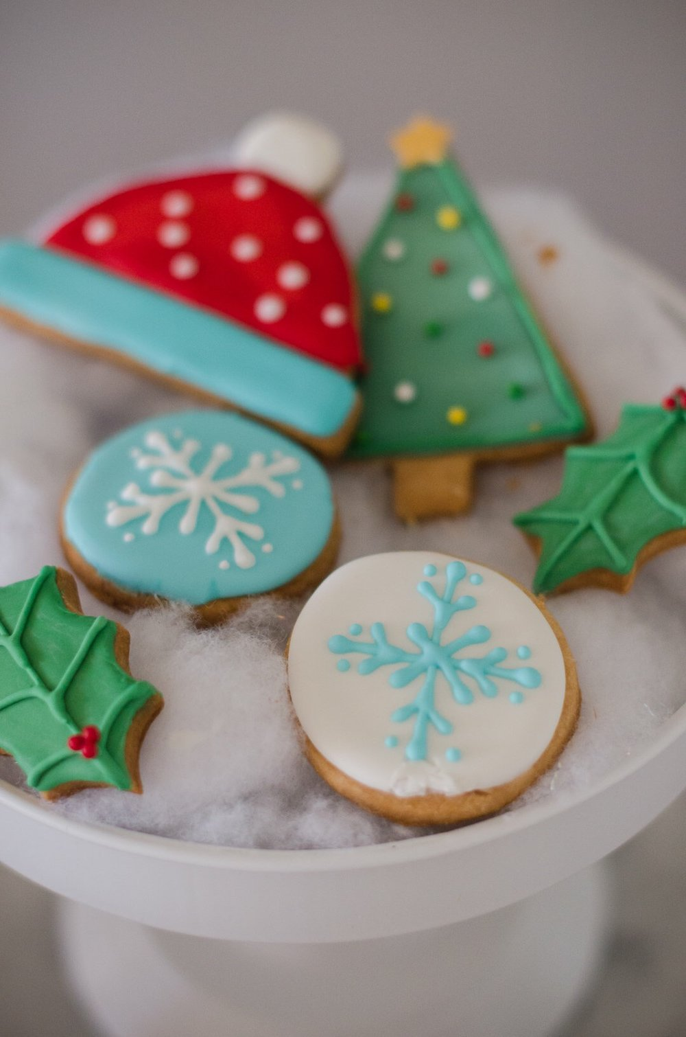 Holiday decorated Christmas cookies. See more holiday party inspiration from Austin based party stylist Mint Event Design at www.minteventdesign.com #desserttable #christmascookies #christmasdesserts #holidayparty #holidays #partyideas #christmasparty #holidaypartyideas