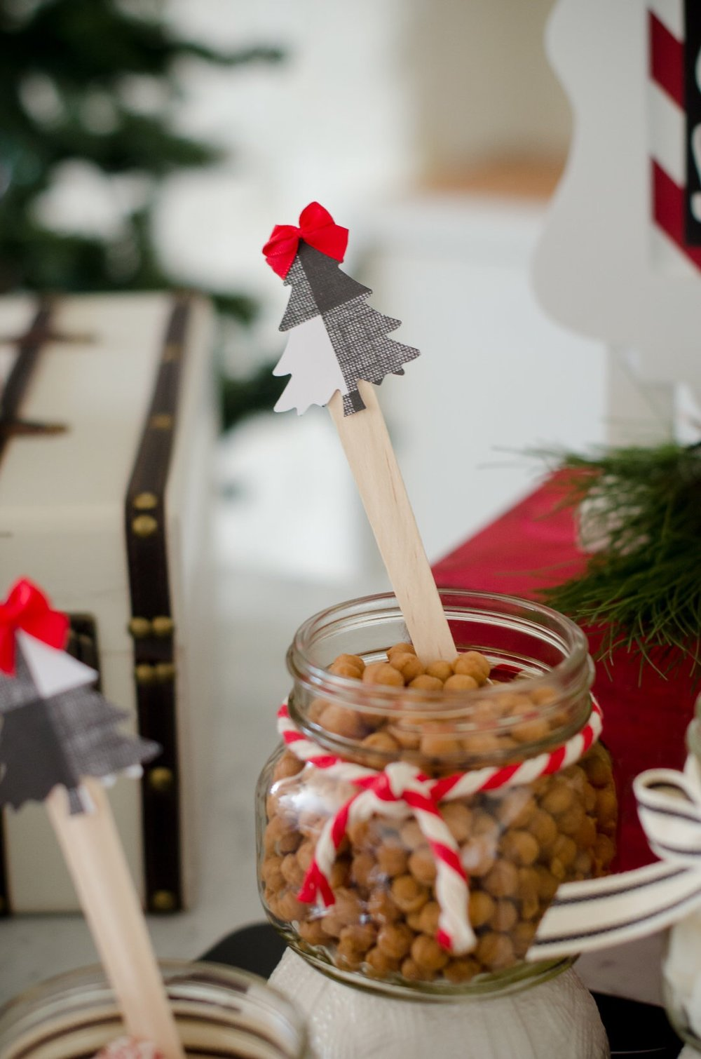 Caramel bit toppings at a Christmas Hot Cocoa Station are a surprise for your guests. See more holiday party inspiration from Austin based party stylist Mint Event Design at www.minteventdesign.com #holidayparty #holidays #partyideas #christmasparty #holidaypartyideas #hotcocoabar #hotcocoa