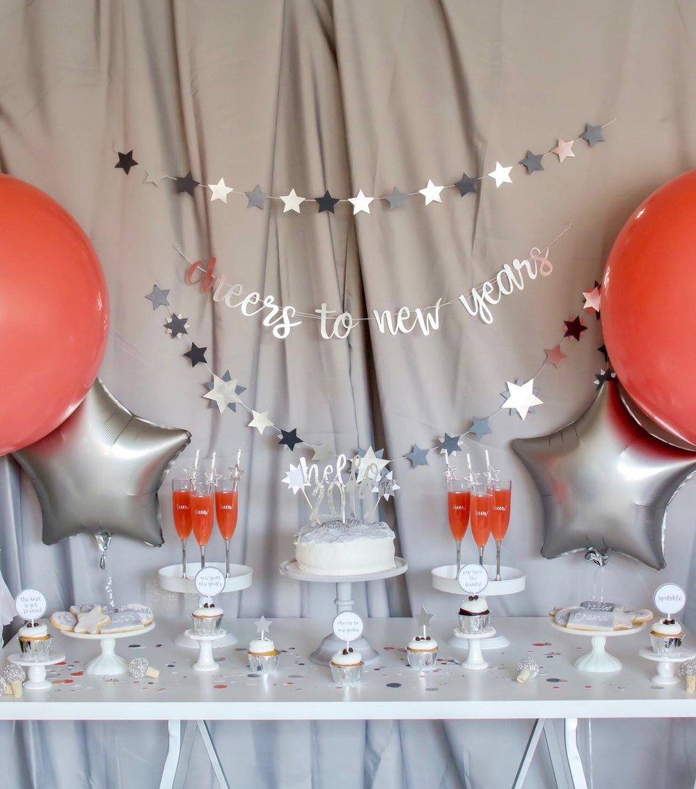 Colorful Coral New Year's Eve Party from Mint Event Design