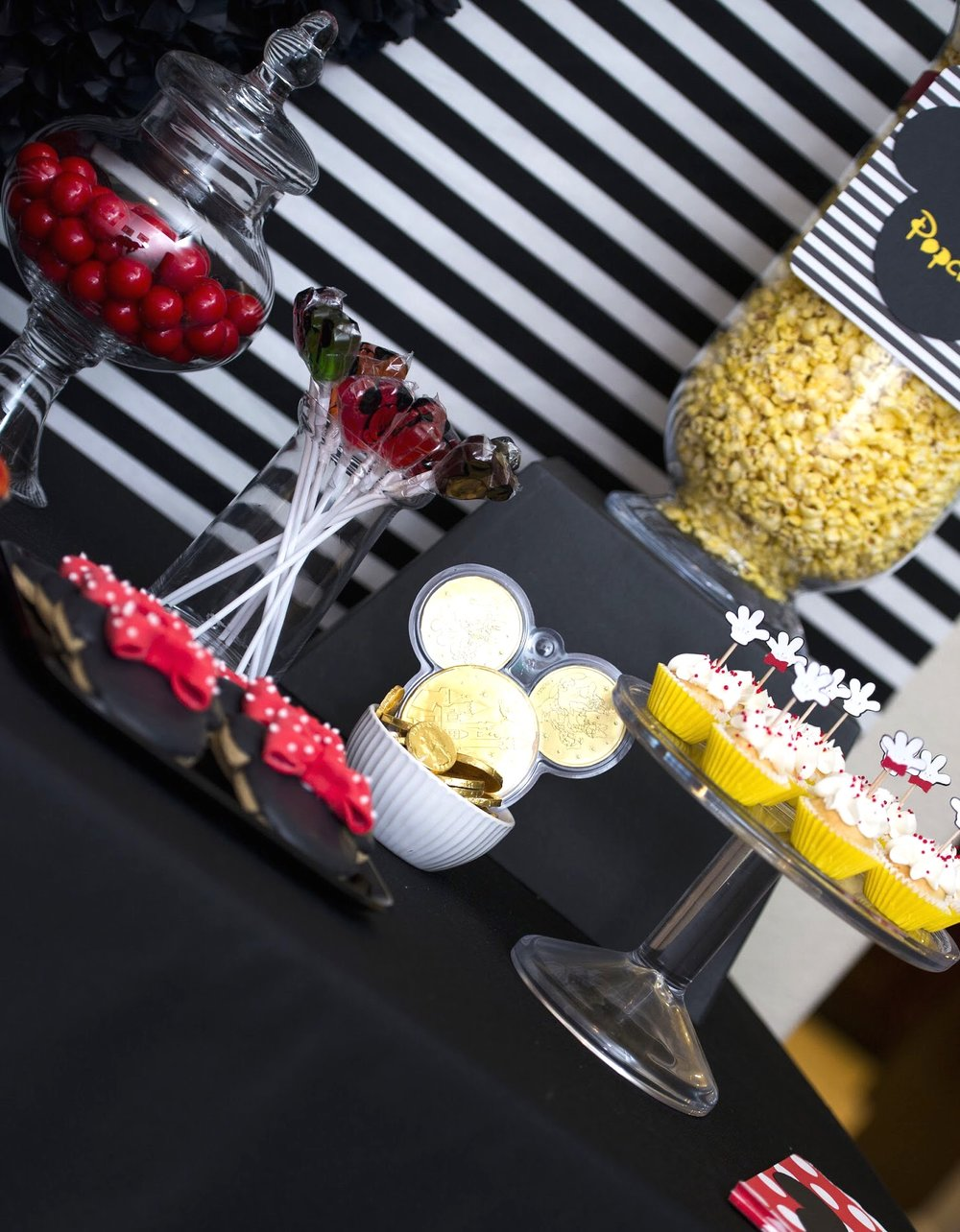 Disney Parks chocolate coins are a perfect addition to this dessert table!