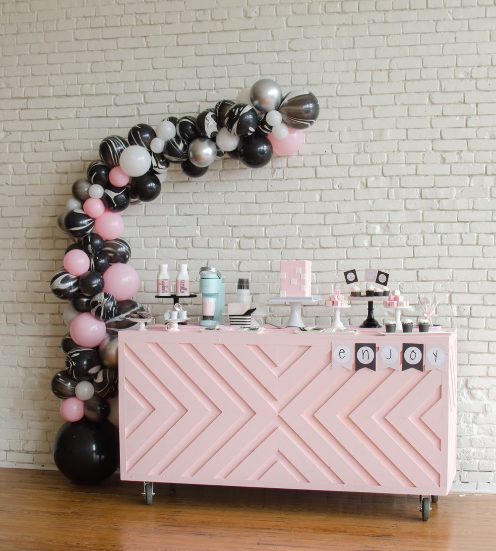 Cute Galentine's Day/ Ladies Brunch idea from Mint Event Design— Austin based party stylist