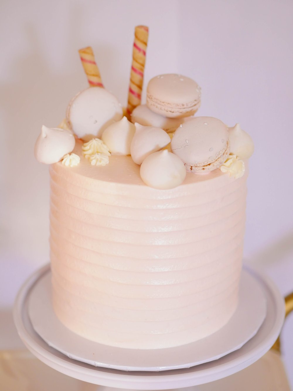 Love the idea of using other treats on top of a cake, it's so over the top!