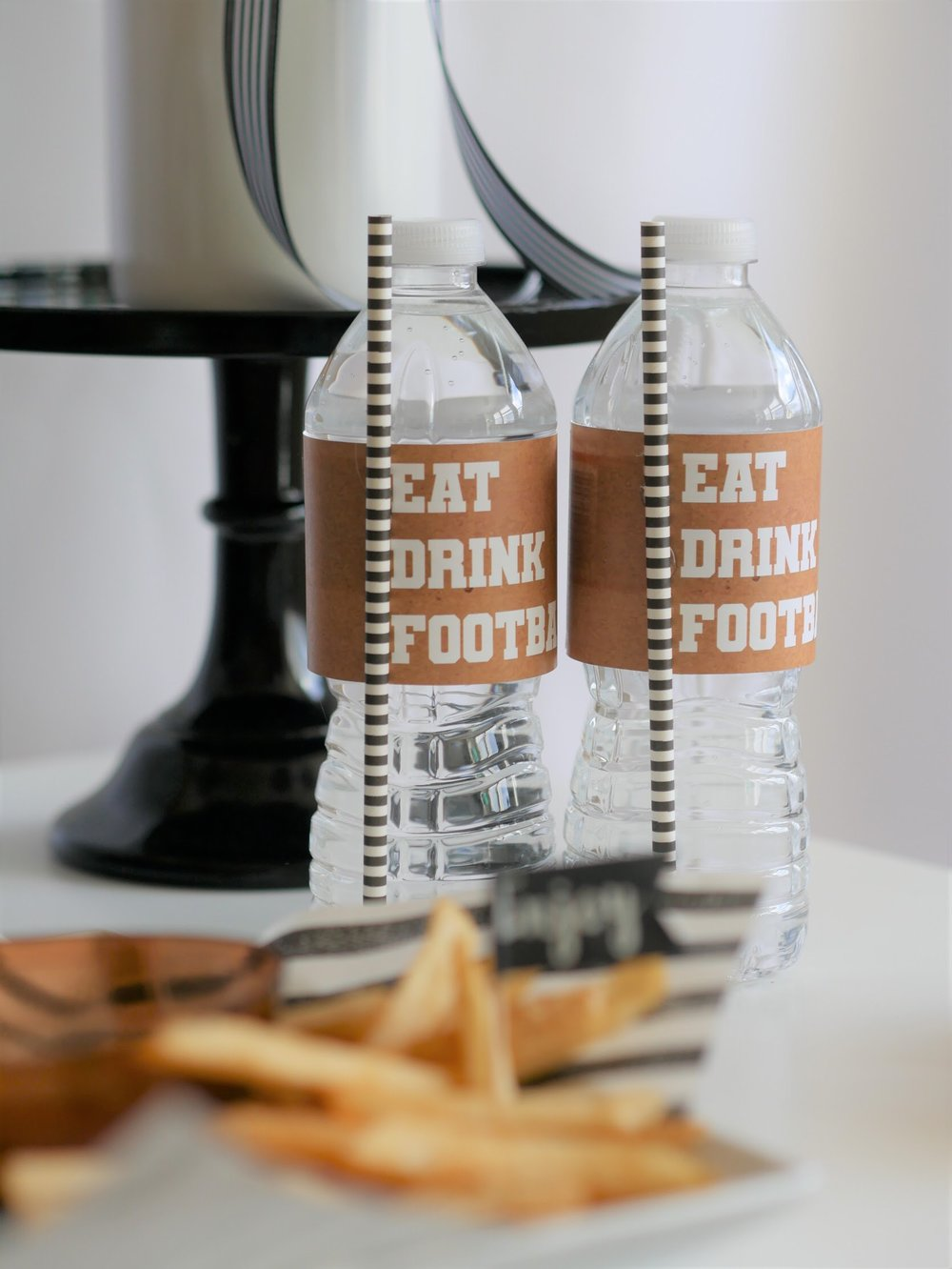 Free football themed printables from Mint Event Design