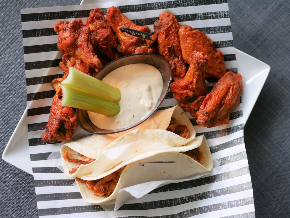 Game day wings and tacos
