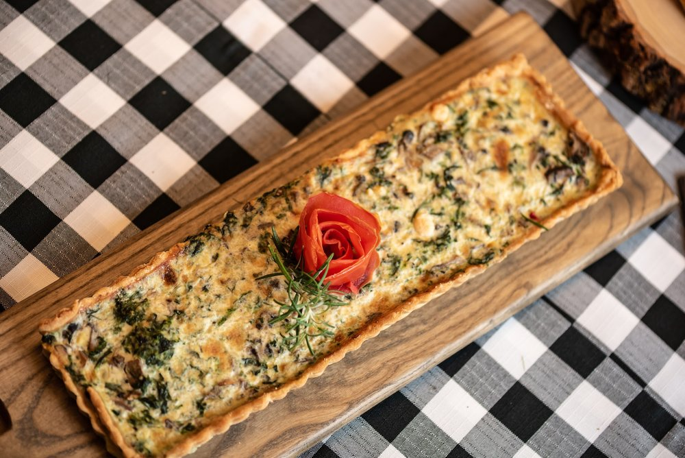 Quiche and other tasty treats elevate this 40th birthday party