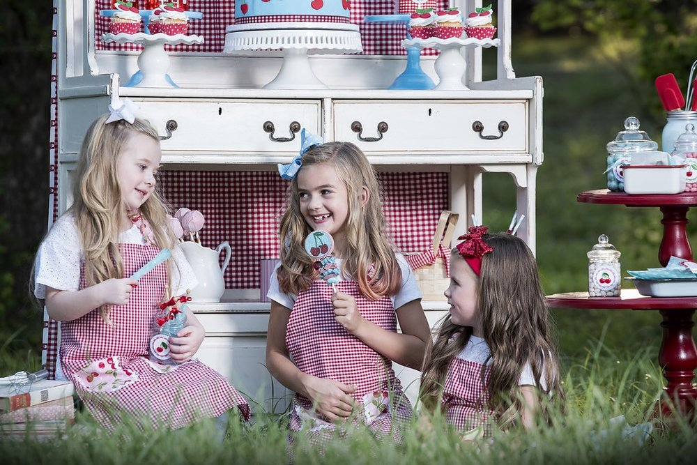 Cute cherry themed birthday party ideas for girls including the sweetest cherry candy kabobs from Sweets Indeed. As seen on Mint Event Design www.minteventdesign.com #summerparties #partyideas #kidspartyideas #partyplanning #birthdaypartyideas #kidsparty #cherryparty