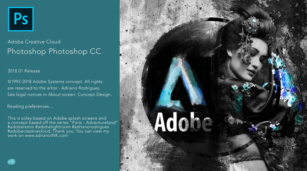 Adobe CC Splash Screen Concept Design by Adriano Rodrigues