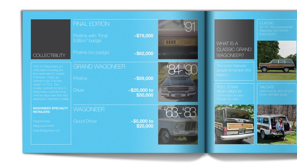 Expectations - Examining classic Wagoneer values gave clues for predicting potential buyers'expectations for the next generation Wagoneer.