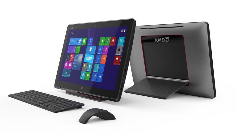 Desktop Nomad - Perfect for dorms and small living spaces, the AIO tablet brings the large screen PC experience to every corner of the home.