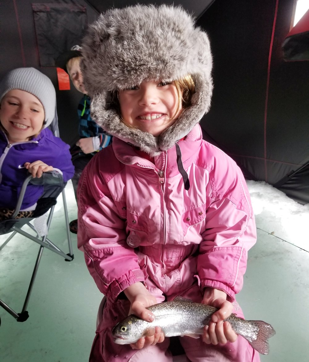 6 years old and loving ice fishing!