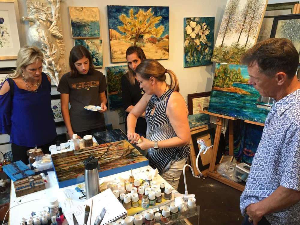 Donna Jassman demonstrates her her creative process.