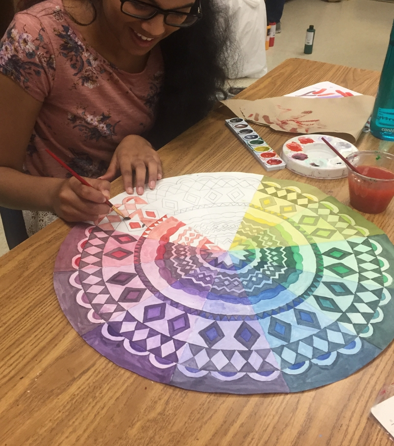 Color Theory Lesson -Color Wheel Mandala