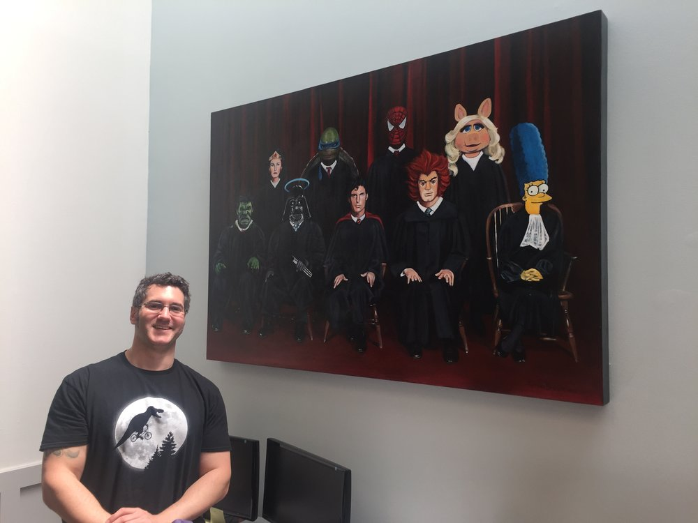 Dan Dewoskin, Dewoskin Law Firm, Decatur Ga- Justice League, by Artist, Gena Brodie .