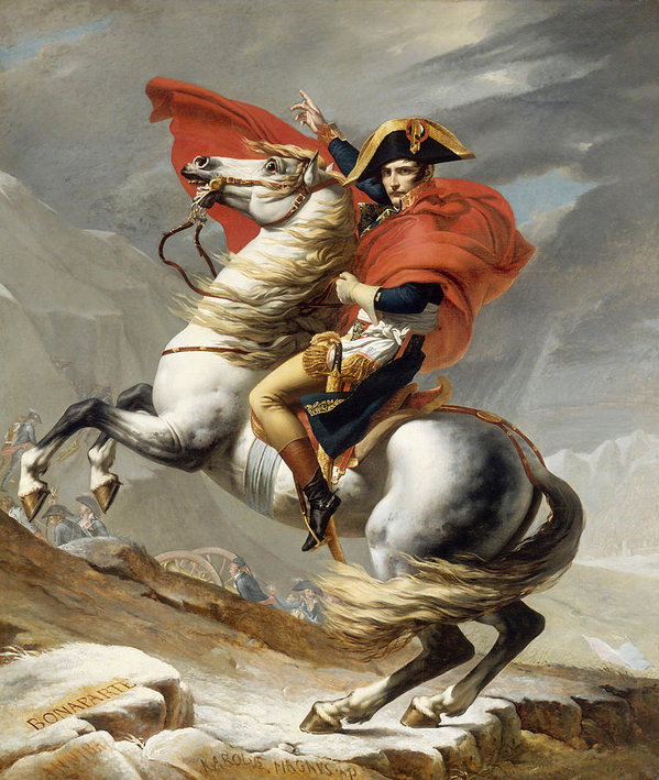 "Napoleon was between 5' 2"" and 5' 7"" tall. So he was either riding a pony here or he had the artist exaggerate a little."