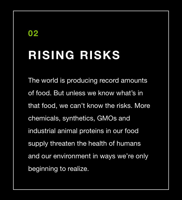 Cargill knows the risks, because they buy and sell GMO's daily. There are no risks.
