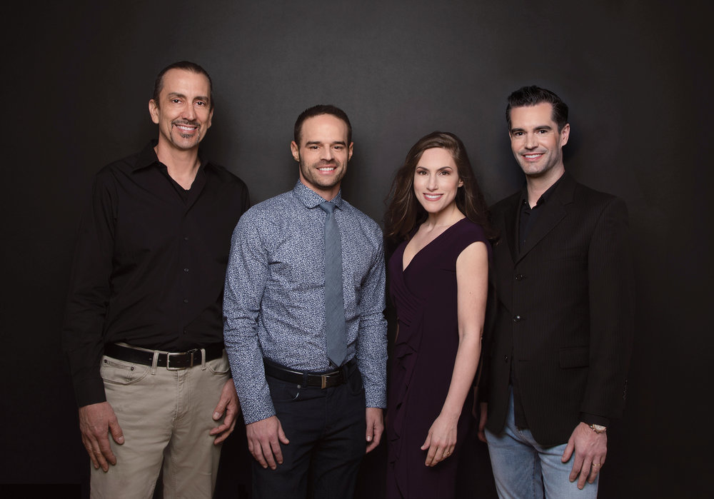 [The team pictured from Left to Right]   Jim Boyd  - Ceramist for Rob's veneer case  |   Dr. Jeff Trembley  - Cosmetic Dentist - Smile On Nashville |  Kristin Solberg - Office Manager of Smile On Nashville and wife to Rob   |  Rob Solberg -  Nashville's first MACStudio Model Search Grand Prize Recipient.