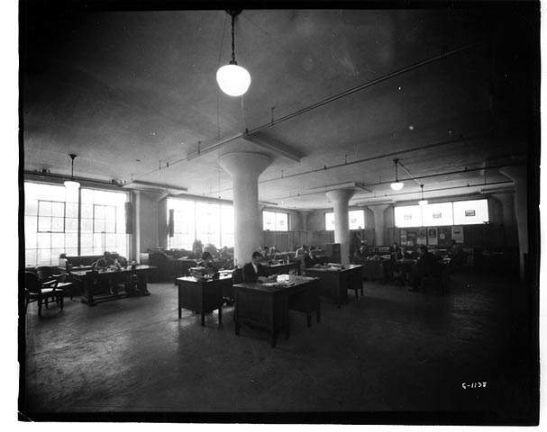 Office at the Dow Building, 1920