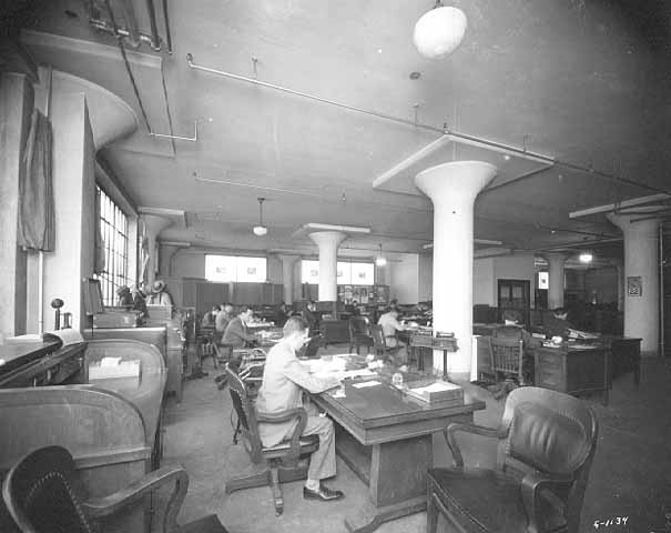 Copy of Office at the Dow Building, 1920
