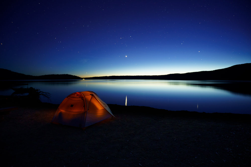 First Stars over Paulina Lake