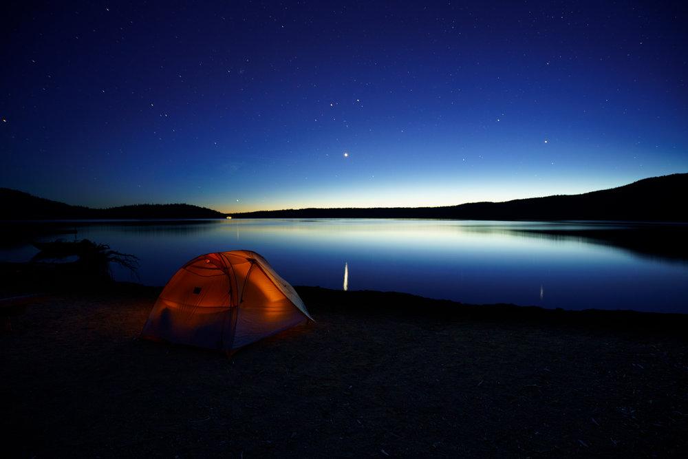 First Stars over Paulina Lake