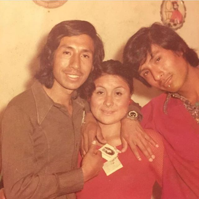 My cousin @milanix13 is in Peru right now dropping GEMS on her feed. My uncle Rodrigo (left) is out here looking like a psychedelic rockstar, my Tia Bertha out here with her mesh sleeves and my dad looking like a baby face killah. IT'S ALL TOO MUCH. THE 70S WERE TOO MUCH. ❤️