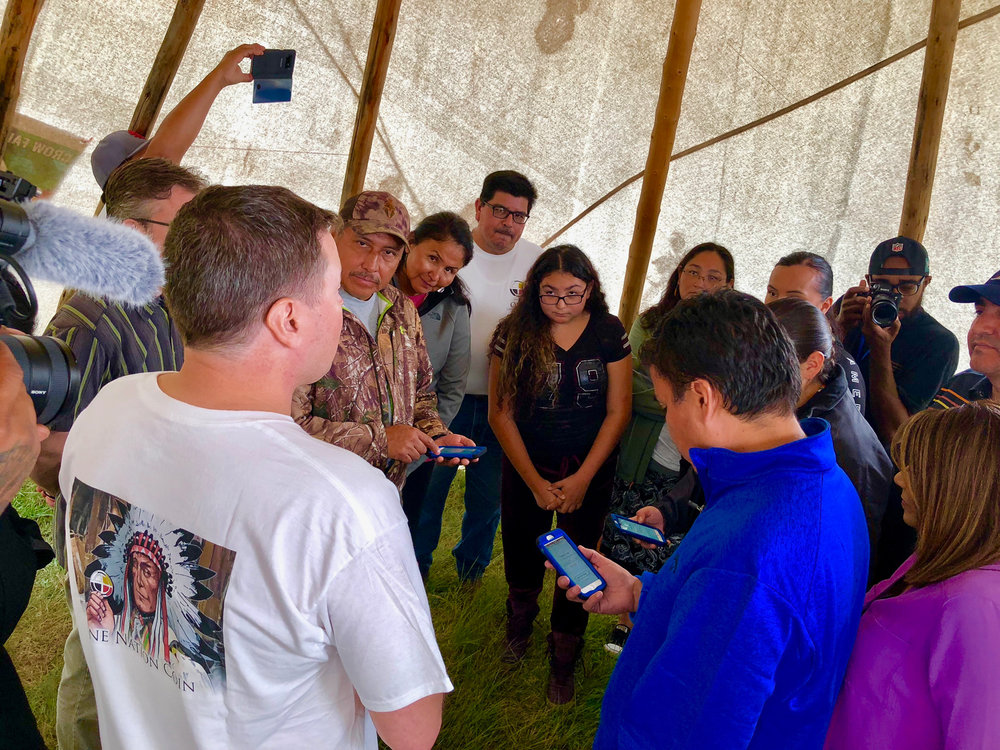 Live demonstration of He3Labs e-government application with Crow citizens. Photo: Universal Tribal Partners