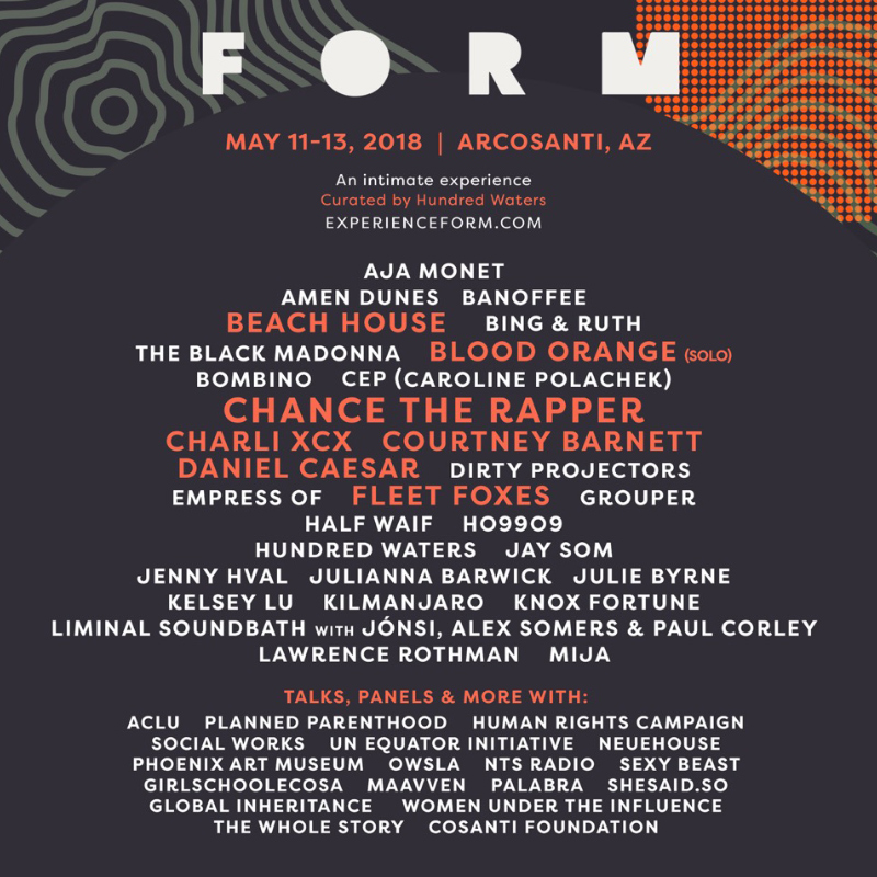 <b>FORM FESTIVAL</b><br/>ARCOSANTI, AZ<br/>May 11-13, 2018