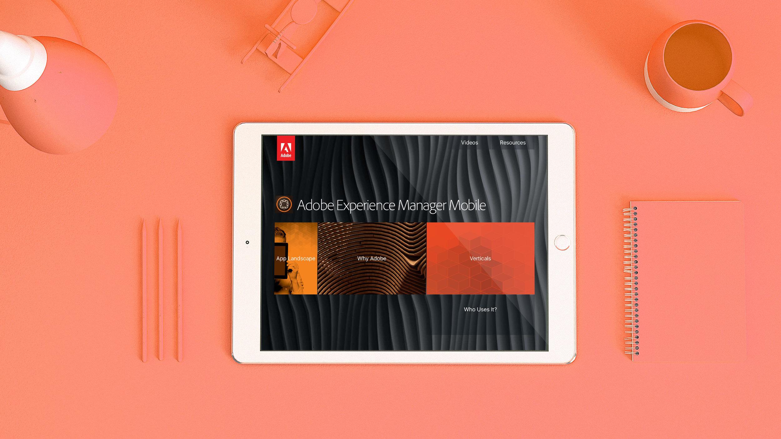 adobe aem mobile sales tool gridshift sean bates design ux