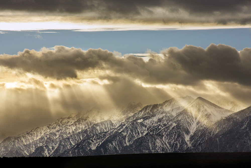 Eastern Sierra God Rays