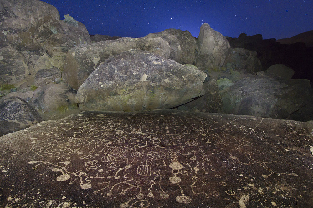 Petroglyphs at Night