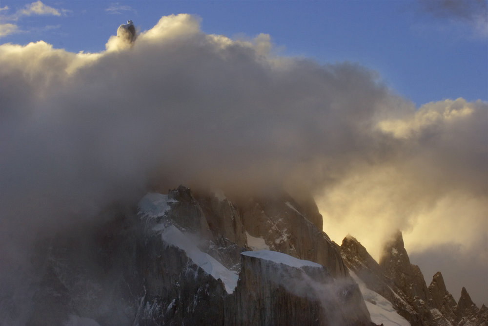 Cerro Torre Rises from the Mist
