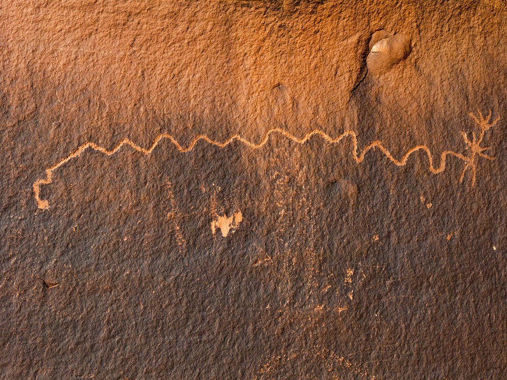 Native American made Petroglyph.