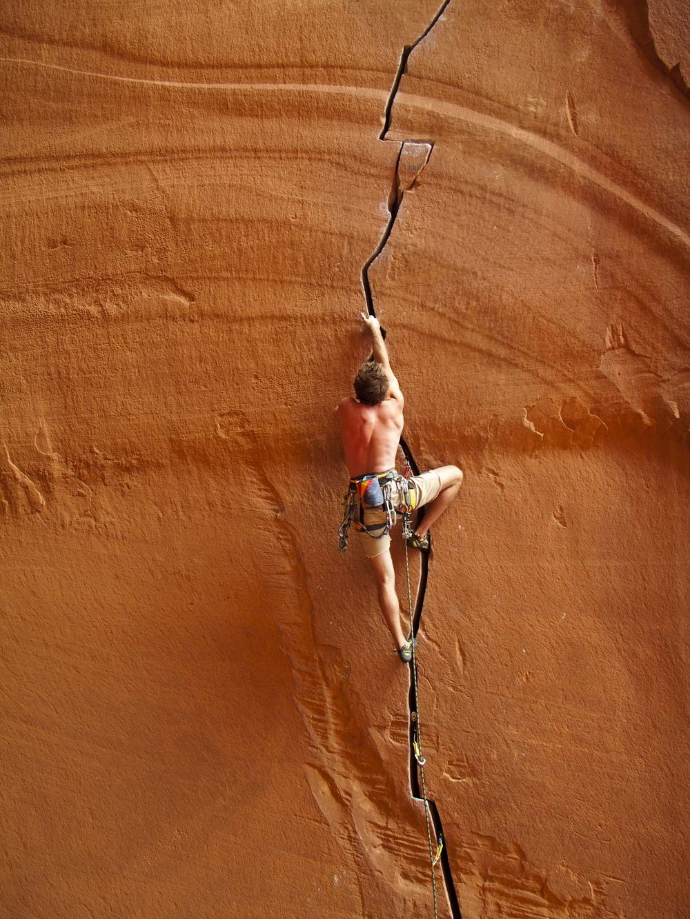 Jeffrey Snider climbing on the route 'Anunnaki.'