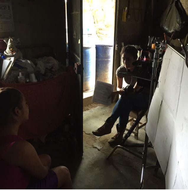 Interviewing Mimi for  Los Comandos.