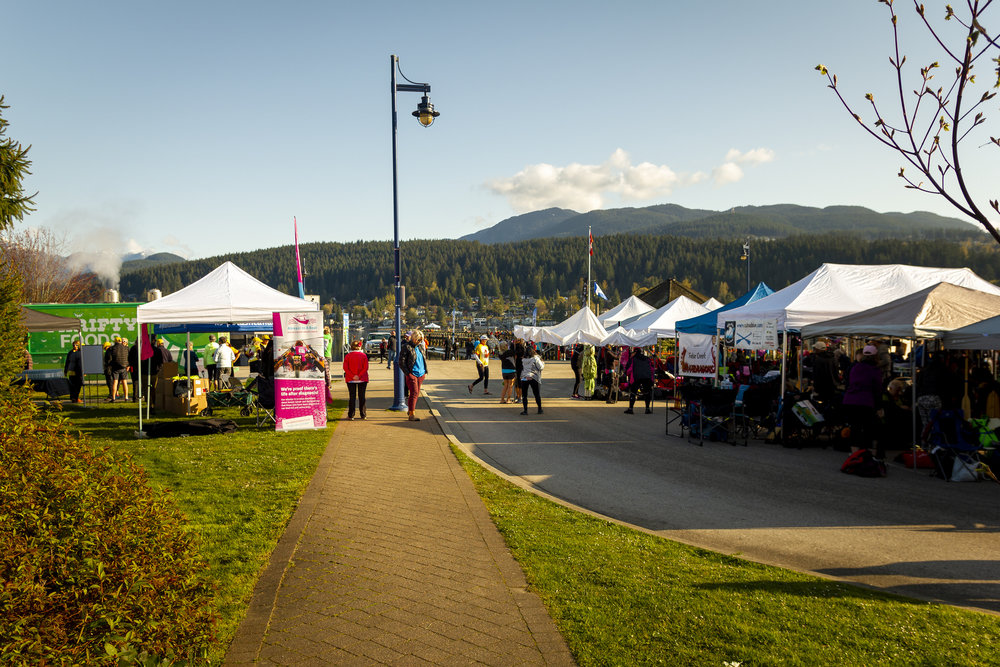 A look through the Paddler's Village and vendor area of the inaugural Inlet Spring Regatta at Rocky Point Park. (Photo: Joep Olthuis)