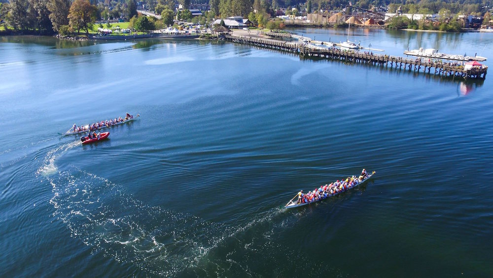 Aerial view of our Inlet Spring Regatta location, taken during the BC 55+ Games 2016