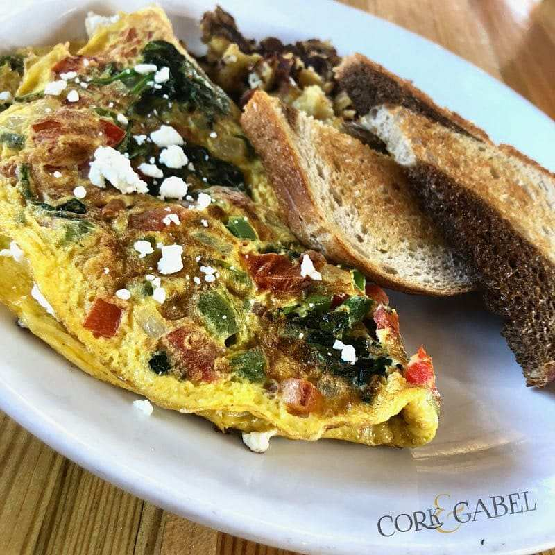 Spinach Omelete