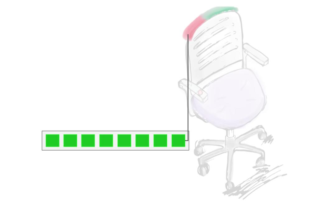 The back light shows user's status