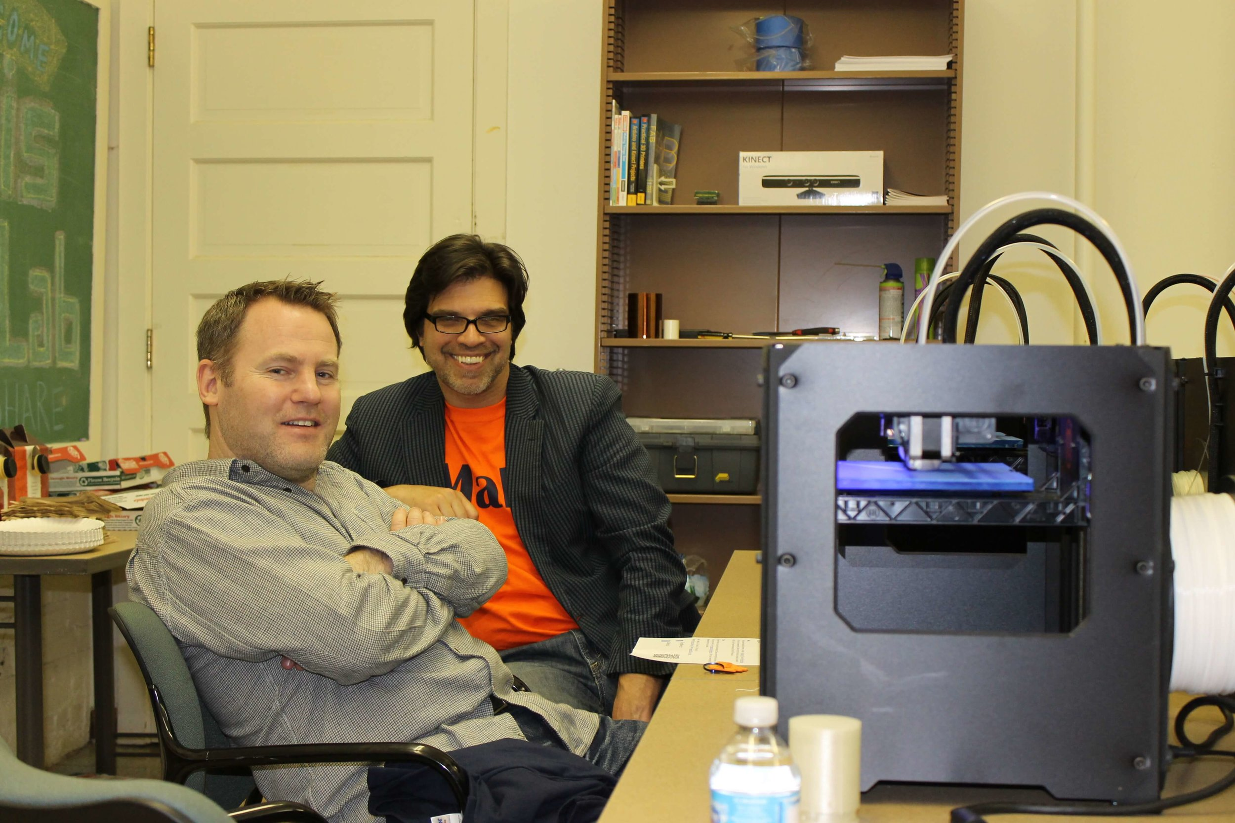 Darren Dahl, Senior Associate Dean, Faculty and Research Fred H. Siller Professor in Applied Marketing Research at University of British Columbia tries out 3D printing