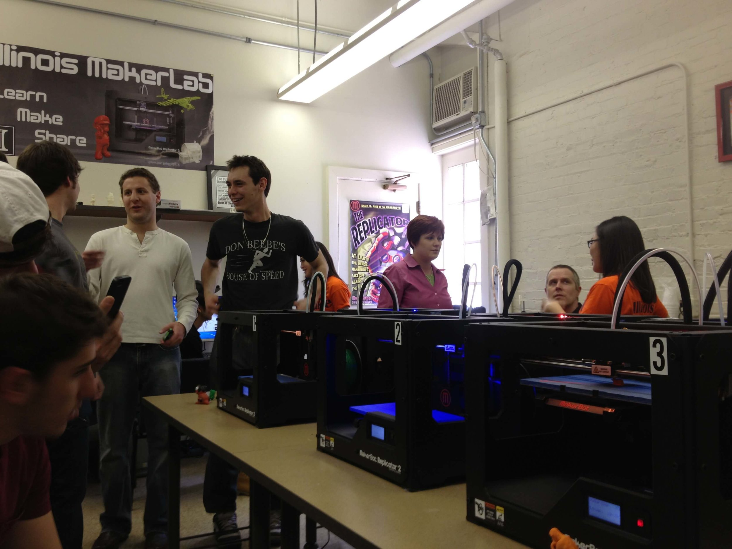 Students prepare to print in three dimensions!