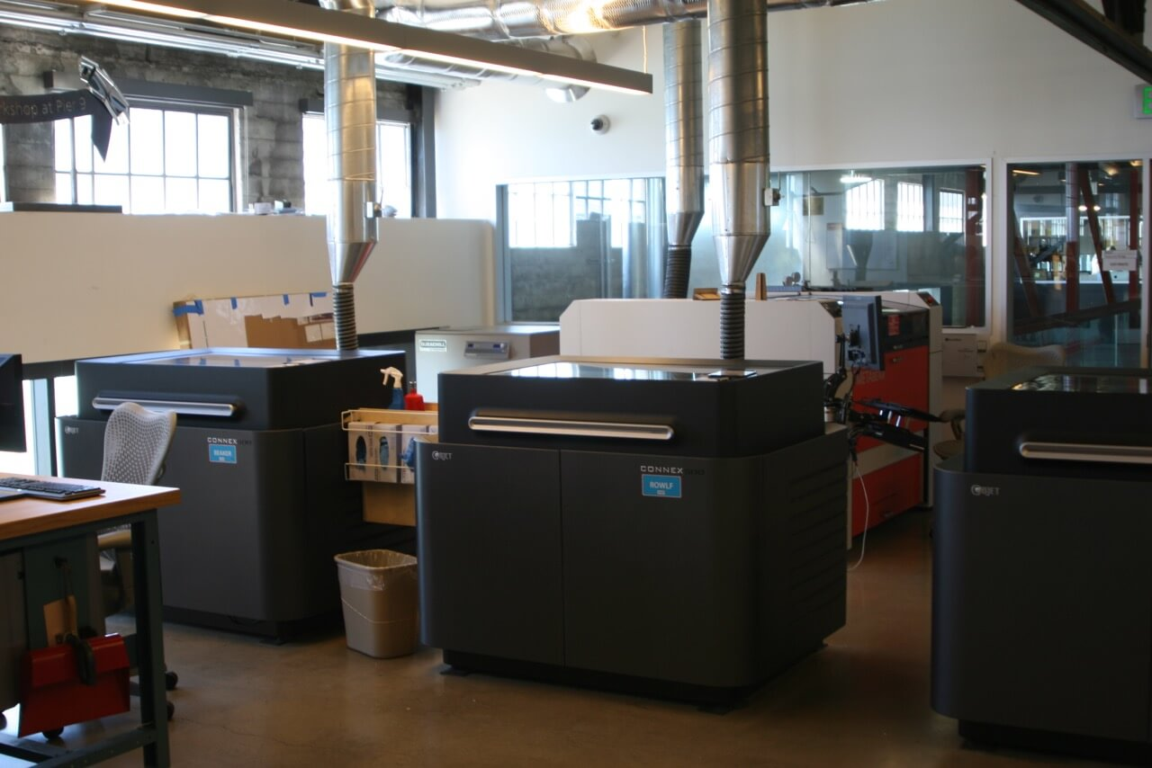 Objet 3D printers located at Autodesk Pier 9