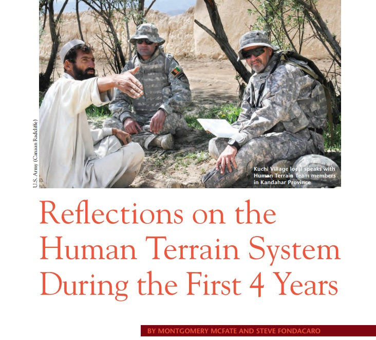 Reflections on the First Four Years of the Human Terrain System (with Steve Fondacaro), PRISM Journal