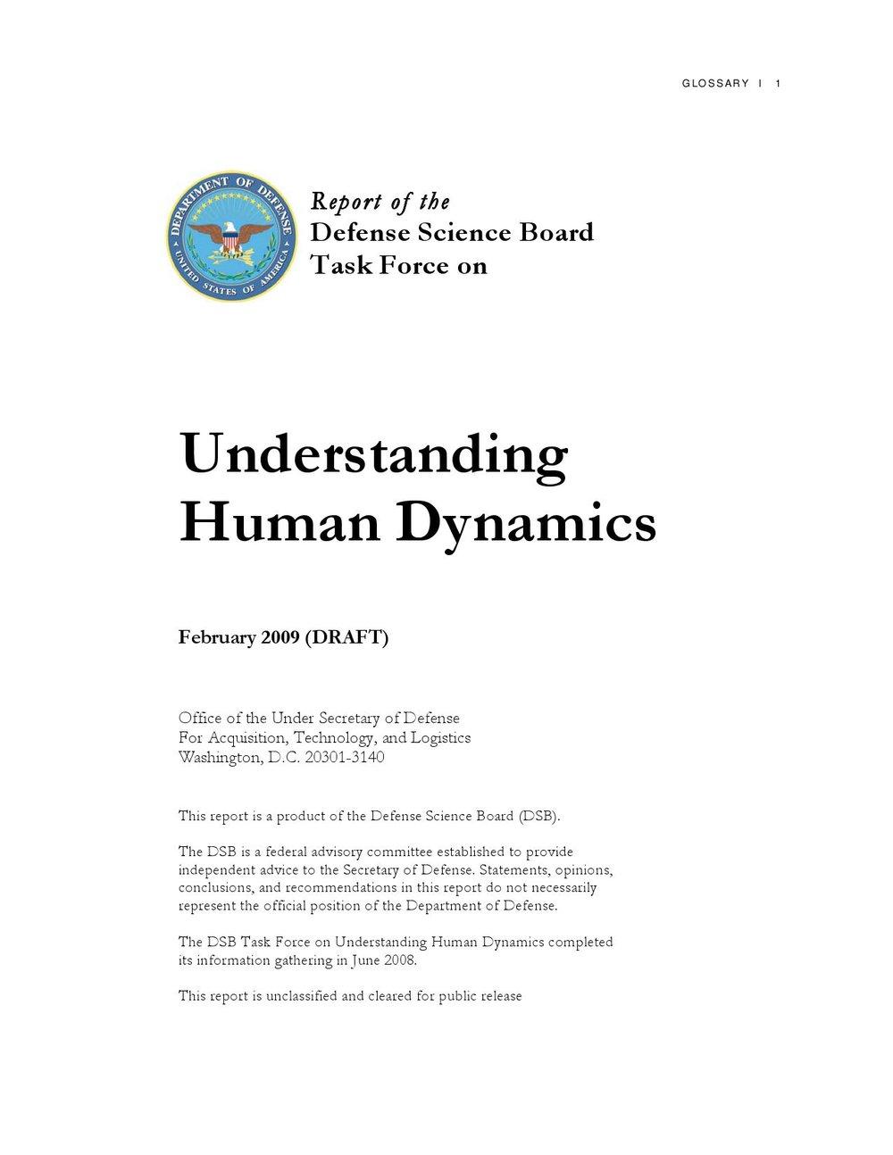 Understanding Human Dynamics