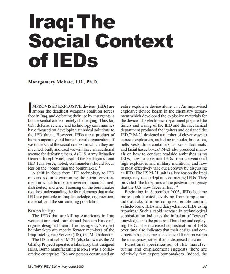 Social Context of IEDs