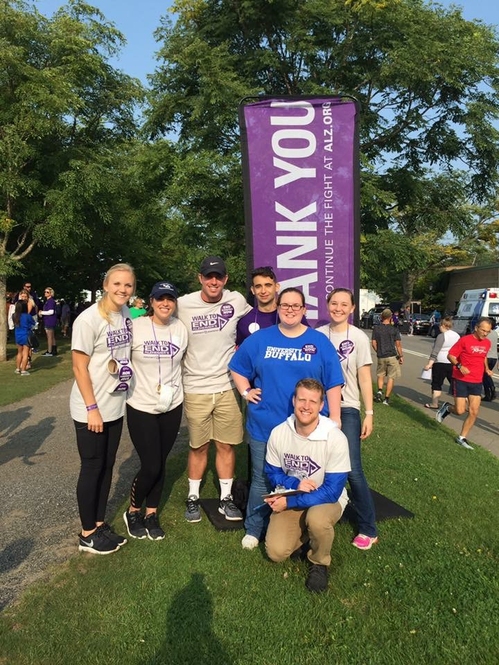 Alzheimer's Awareness - Students gathered in support of Walk to End Alzheimer's at Delaware Park.
