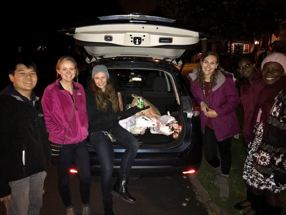 Trick or treat - Distributed food drive flyers to about 100 homes in North Buffalo followed by a collection of canned and non-perishable food items on Halloween night. Collections were donated to the local chapter of the Food Bank of Western NY.