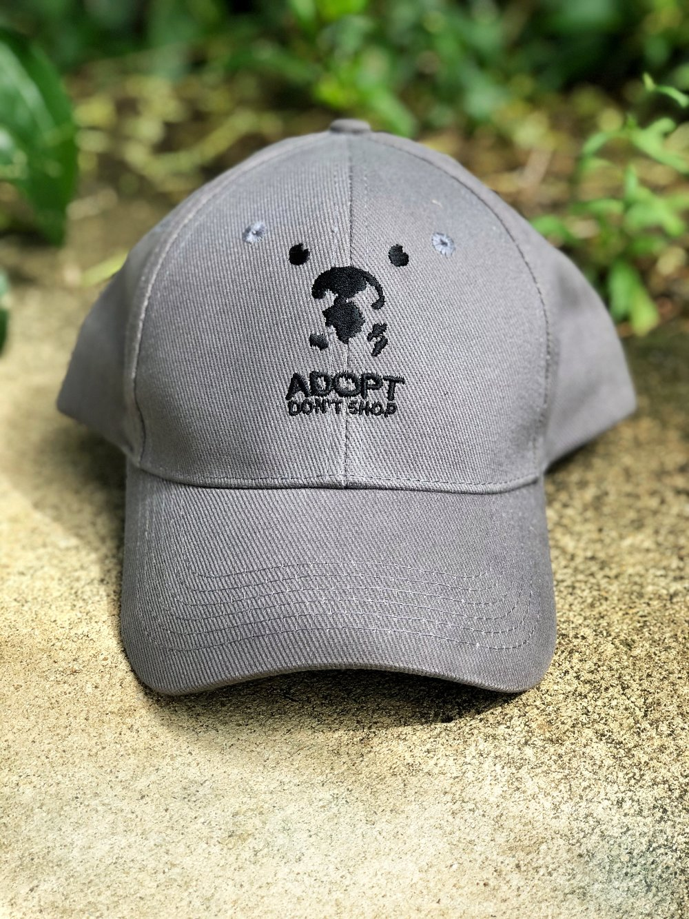 Charcoal Grey hat with black logo