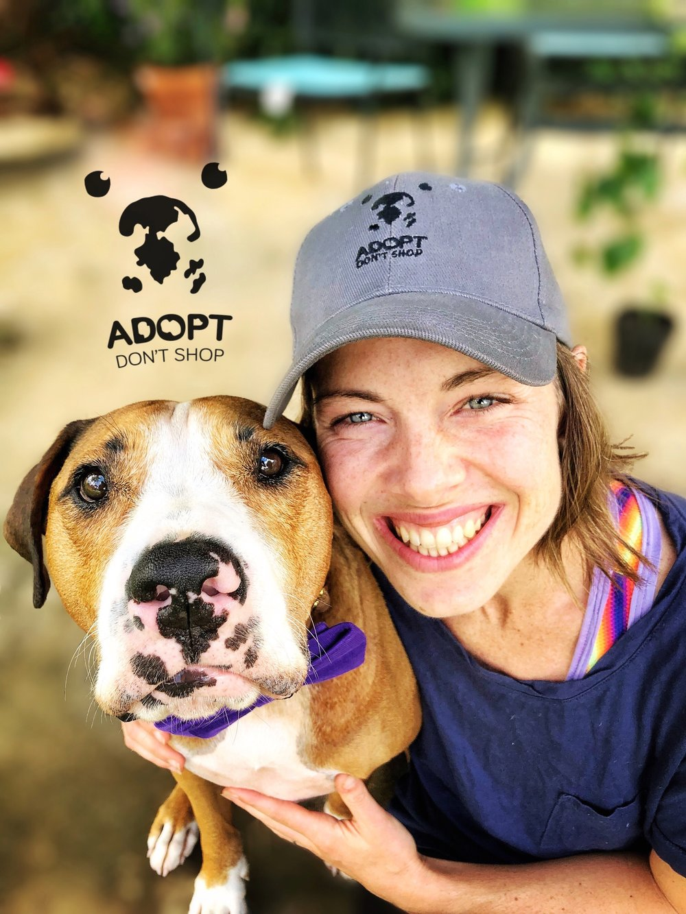 """Adopt Don't Shop"" Hat by  @amospearce"