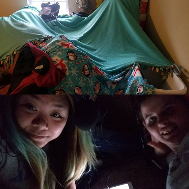 Have you very recorded a podcast in a fort? We have!!