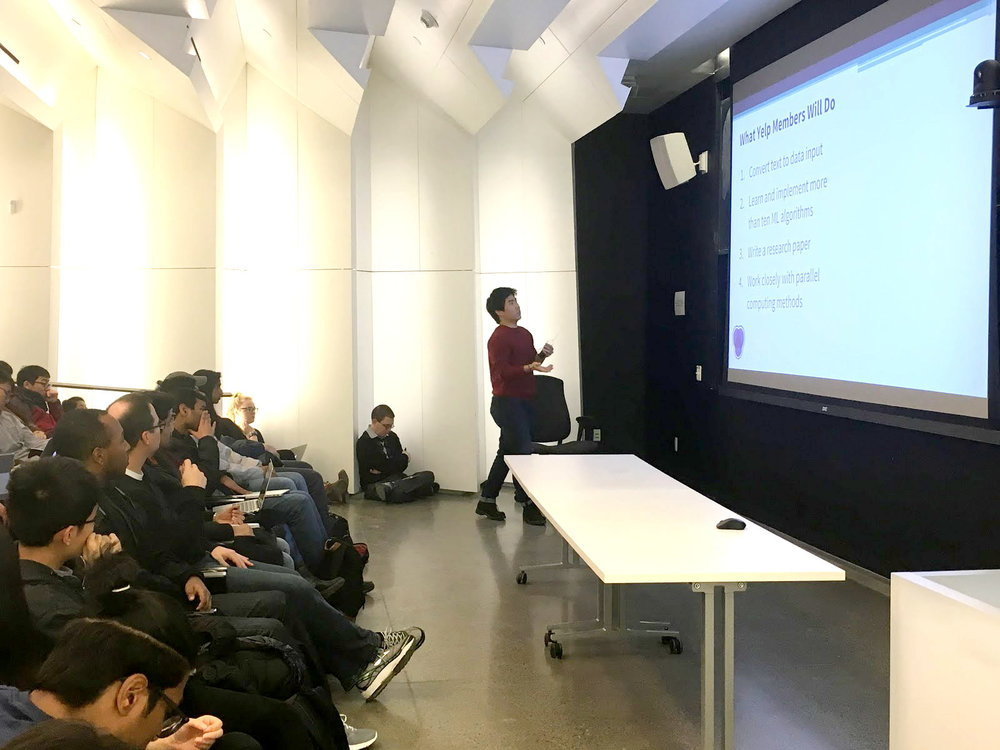 Education - We train students to think and act like data scientists - we want more people to understand data analysis and machine learning at a deeper level.In addition, we hold public tech talks with professors and industry experts.